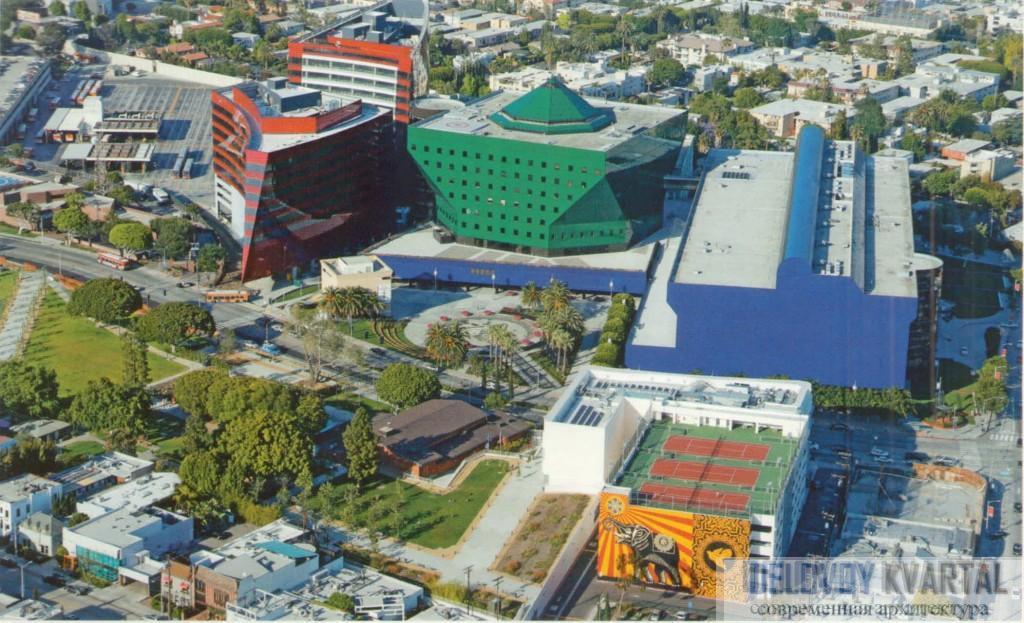 Тихоокеанский центр дизайна. Вид сверху