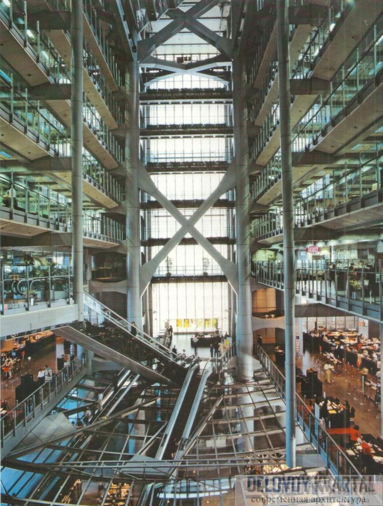 Главный атриум здания HSBC банка