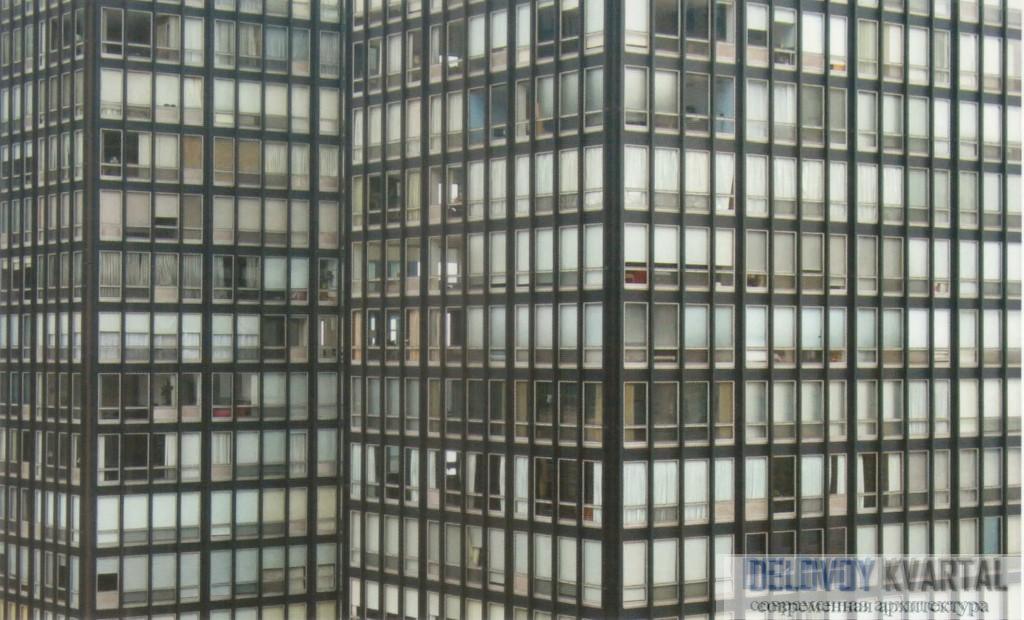 Структурная решетка фасада комплекса