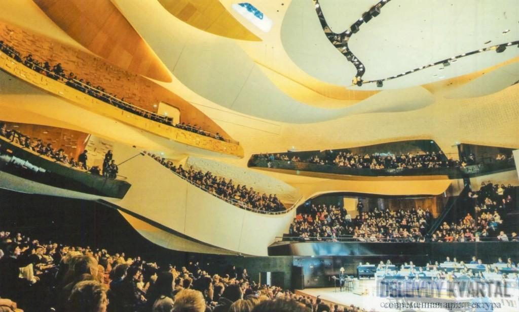 Интерьер главного концертного зала филармонии