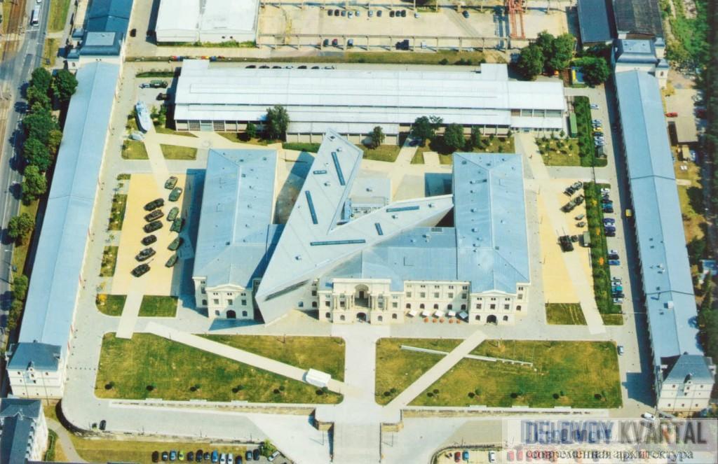 Вид на музей с высоты птичьего полета
