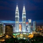 """Башни """"Петронас"""" архитектора Сезара Пелли, Малайзия Куала-Лумпур."""
