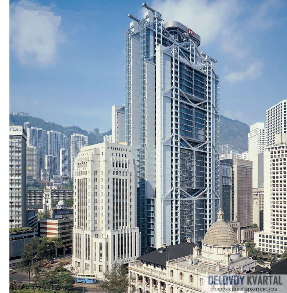Проектирование высотных зданий. Внешний вид HSBC Building. Гонконг