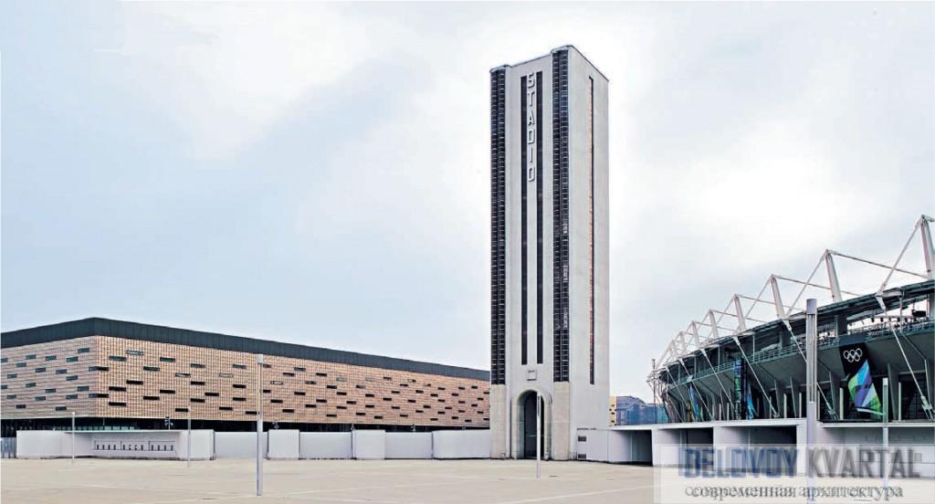 В центре «олимпийской композиции» – башня «Маратона»