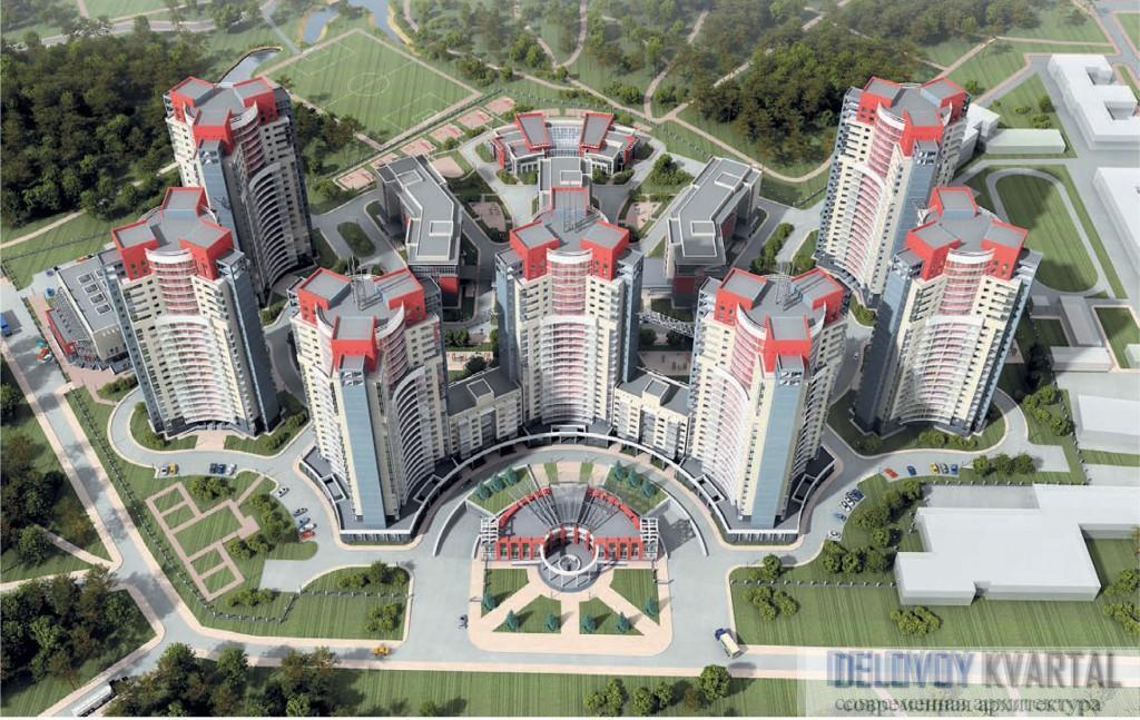 Проект жилого многоэтажного комплекса на Фермерском шоссе, Санкт-Петербург. Архитектурная мастерская Цыцина