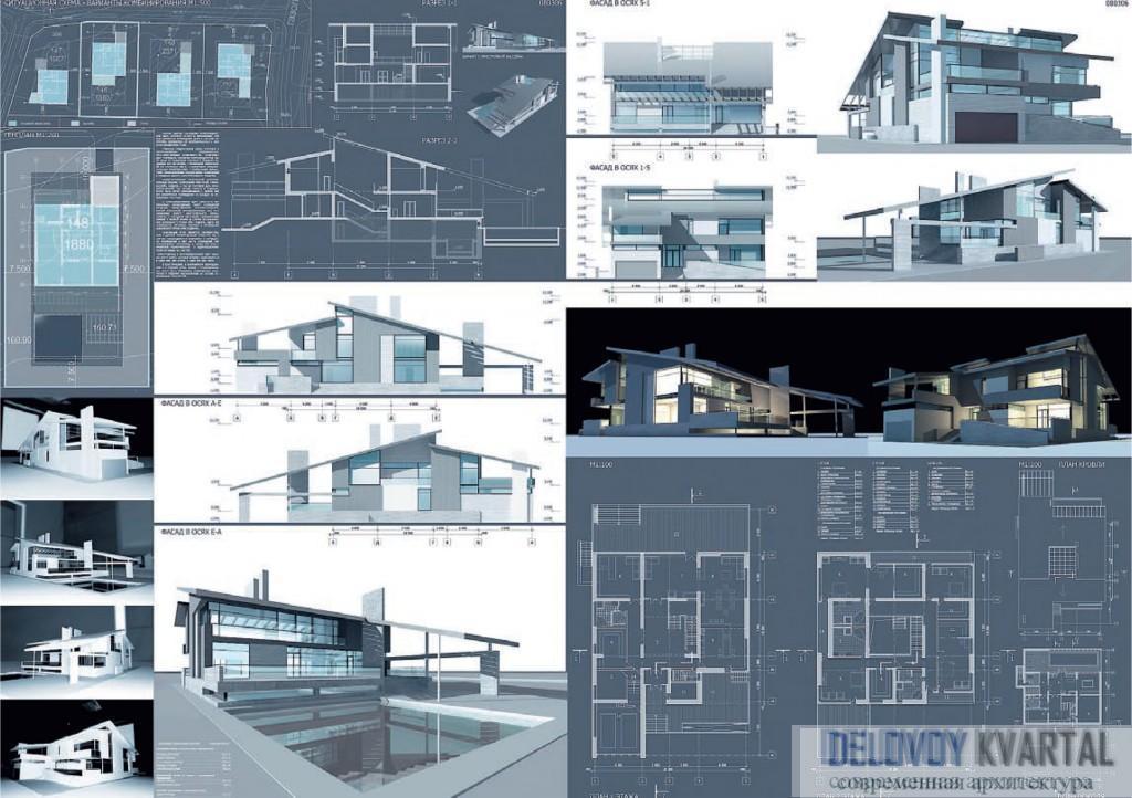 Конкурсный проект. Арх. М. Хазанов. Технологии строительства загородных домов