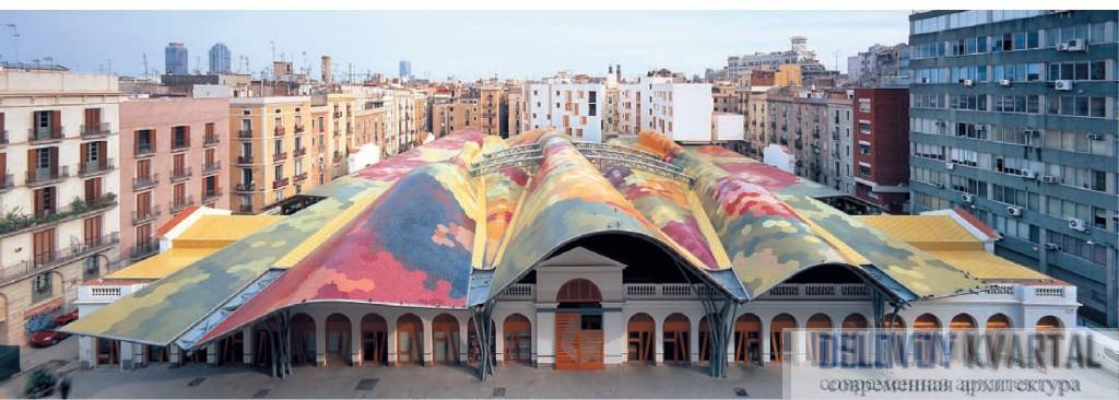 Испанская архитектура. Реконструкция рынка Санта-Катерины, Барселона.