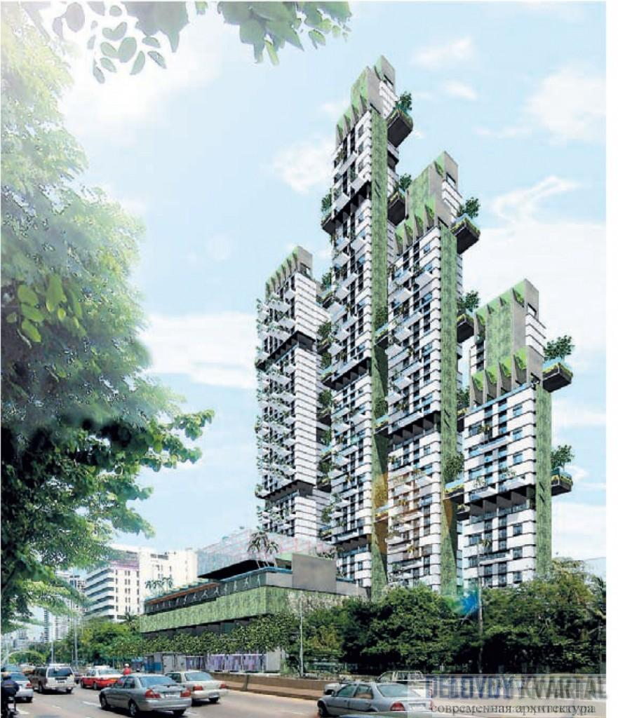 Высотный комплекс The Met, Бангкок. Арх. бюро WOHA. Exotic More or Less