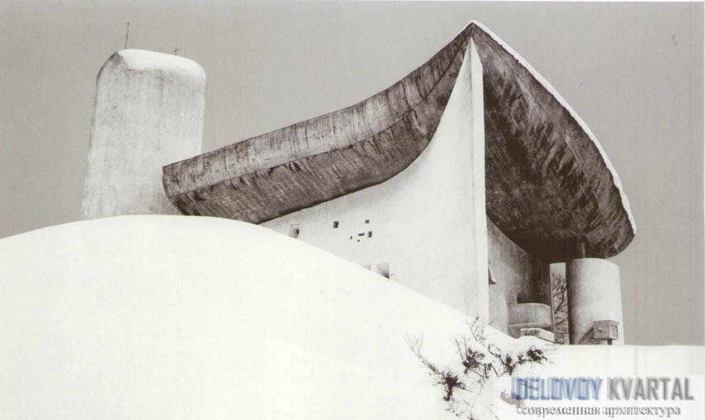 Капелла Нотр-Дам-дю-О зимой