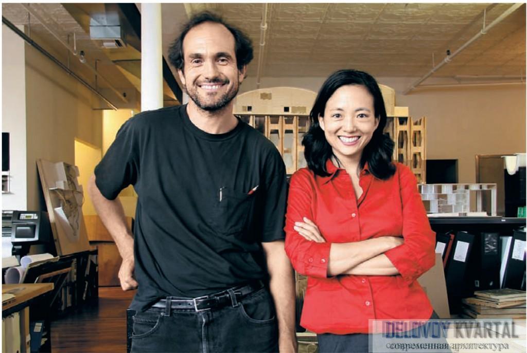 Архитекторы Пабло Кастро и Дженнифер Ли, основатели архитектурного бюро Obra Architects