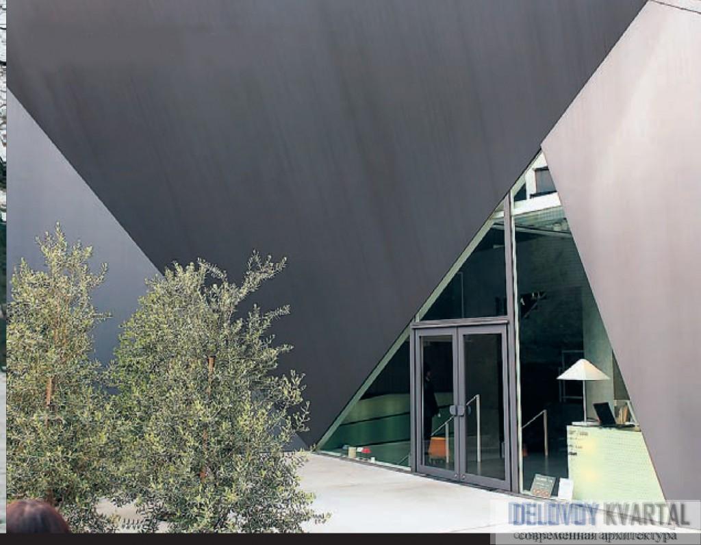Современная архитектура Японии. Собранное из множества плоскостей здание напоминает оригами