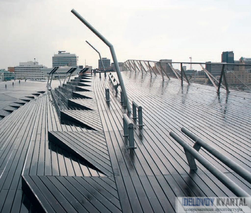 Современная архитектура Японии. FOA придумали совершенно новую композиционную структуру, обеспечивающую взаимопроникновение суши и океана