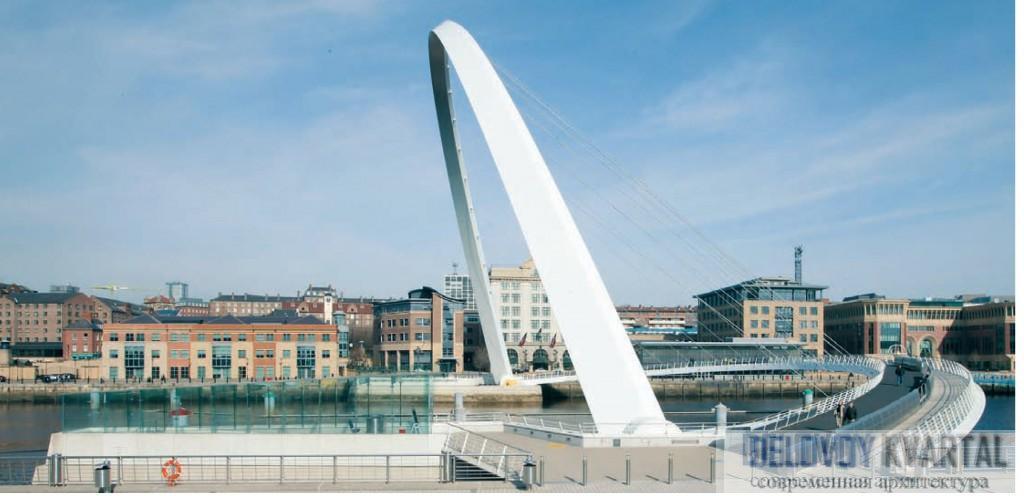 Gateshead Millennium Bridge. (Великобритания). Инженерная архитектура