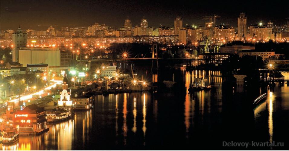 Центр Киева. Ночная панорама