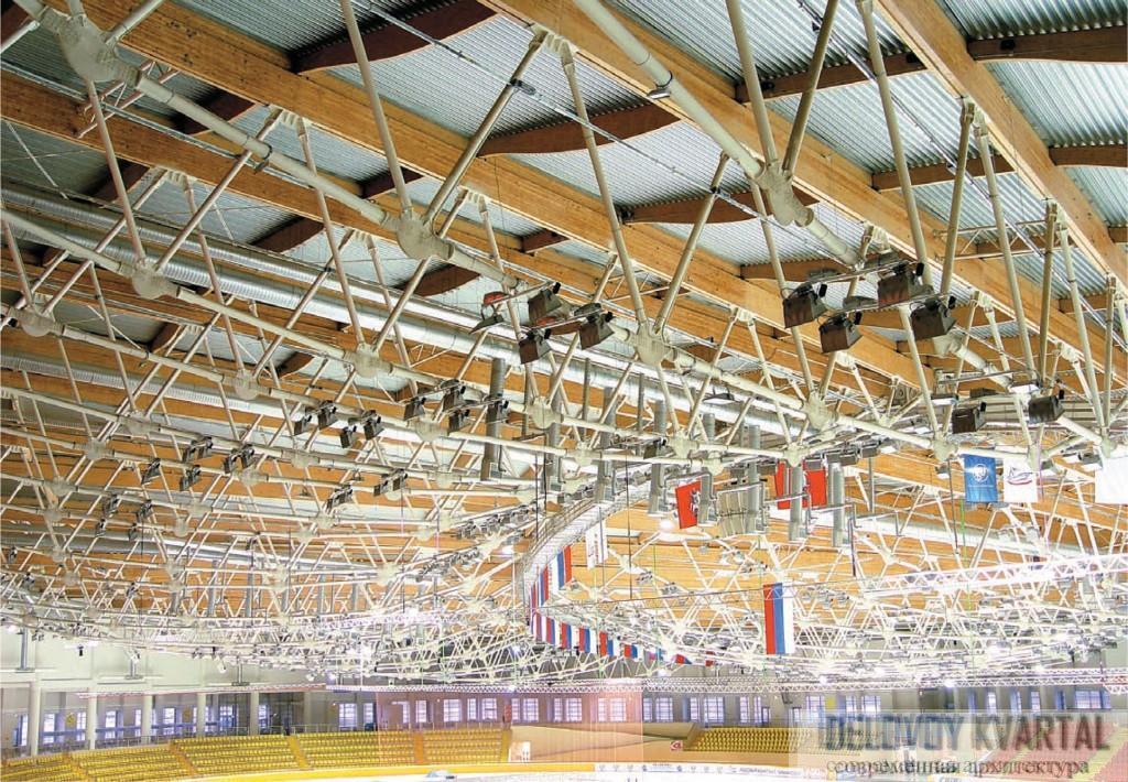 Конструкции покрытия Конькобежного центра в Крылатском