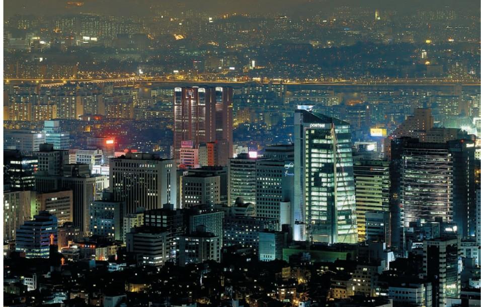 Небоскребы – неотъемлемая часть панорамы Сеула