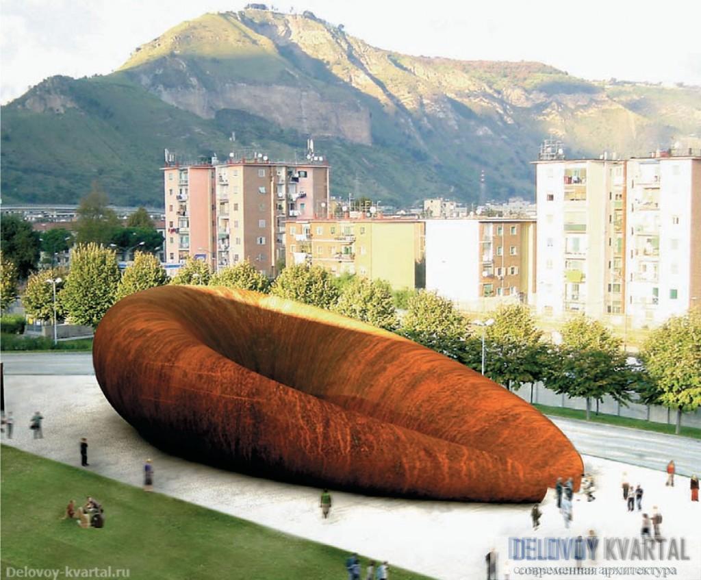 Проект станции метро Monte Sant'Angelo, Неаполь. Арх. Anish Kapoor, Future Systems. Урбанизм