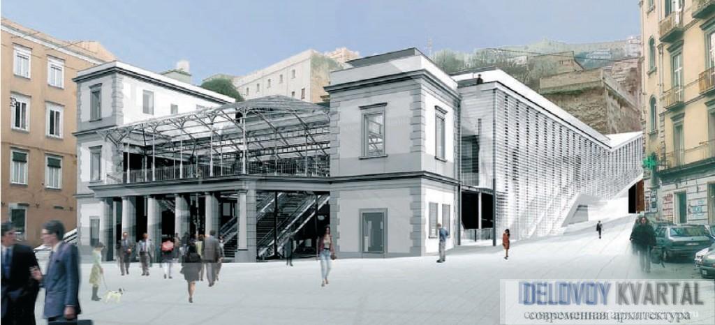 Урбанизм. Проект станции метро Montesanto, Неаполь. Арх. Silvio D'Ascia