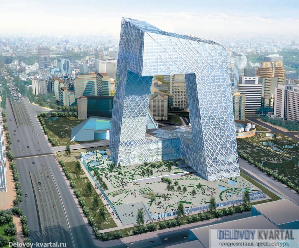 Здание Центрального китайского телевидения. Пекин. Office for Metropolitan Architecture. 2005
