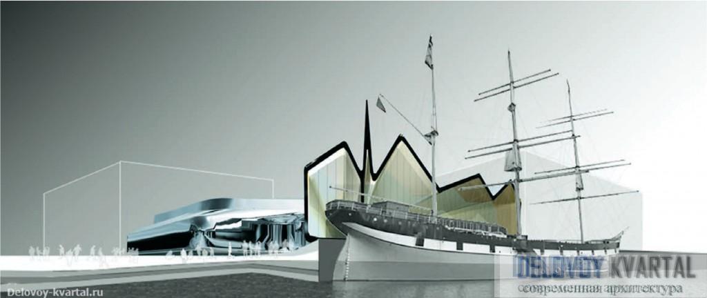 Заха Хадид. Проект Музея морской истории в Глазго (Шотландия). 2005