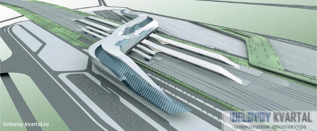 Заха Хадид. Проект реконструкции центрального железнодорожного вокзала Неаполя. 2003