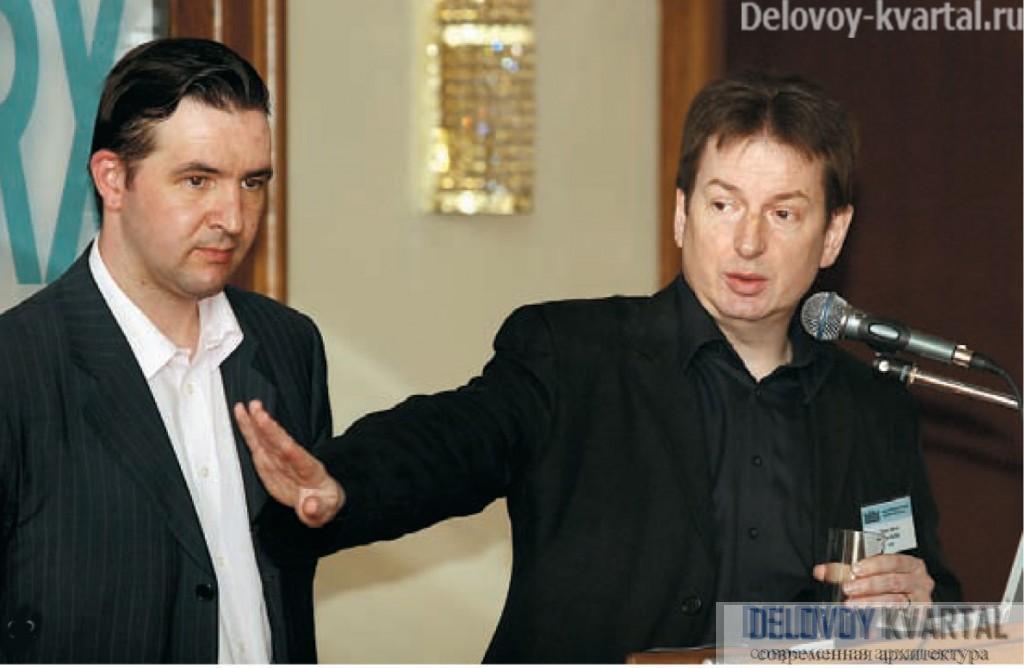 Тони Кеттл и Филипп Никандров (главный архитектор проекта) отвечают на вопросы аудитории