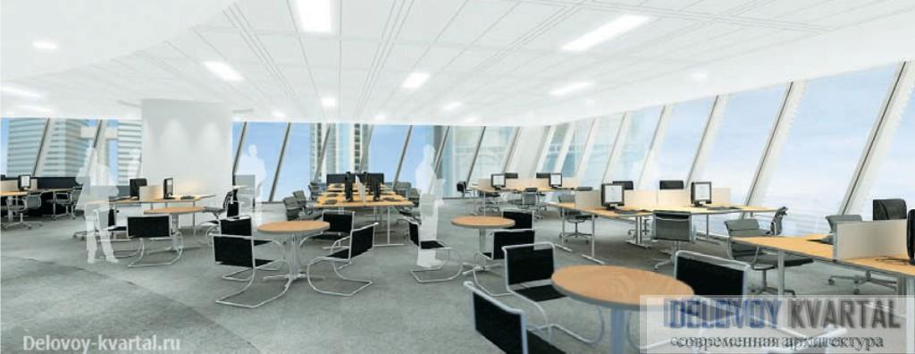 Интерьер типового офиса. Башня Эволюция