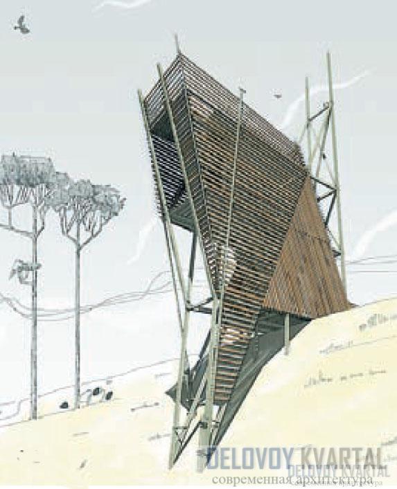 Премия «Золотое сечение». Проект реконструкции голубятни в пос. Малаховка. Архитектор В. Могунов