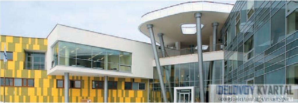 Школа-интернат для детей-инвалидов в Кожухове. «Атриум». Арх.: А. Надточий, В. Бутко, В. Гурчев, премия «Золотое сечение»