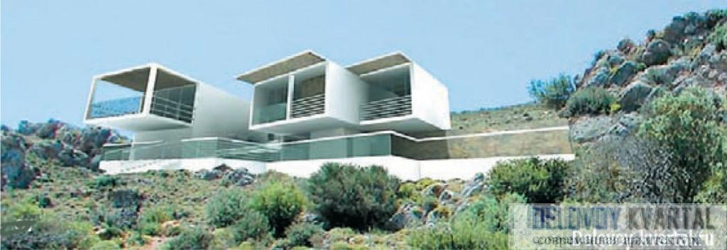 Проект поселка «Гнездо морского орла», остров Крит. «Александров и партнеры». премия «Золотое сечение»
