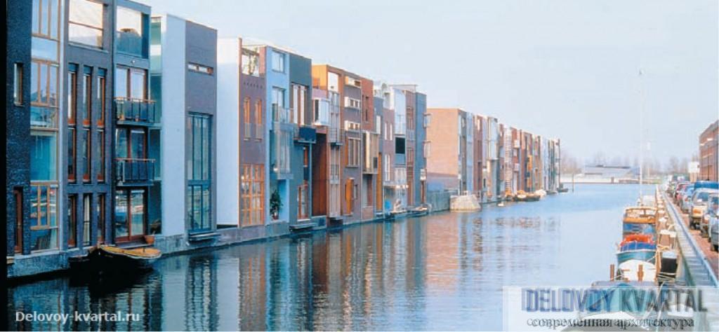 Район Borneo Sporenburg (Амстердам,1997). West 8