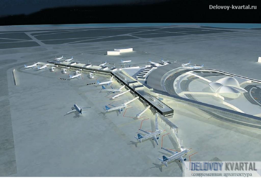 Новый терминал JetBlue в Международном аэропорту имени Кеннеди в Нью-Йорке. Gensler
