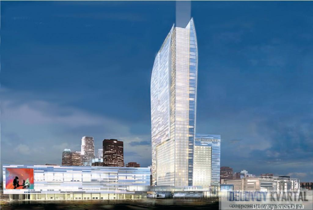 Отель The Ritz-Carlton. Лос-Анджелес. 3D-визуализация. Gensler
