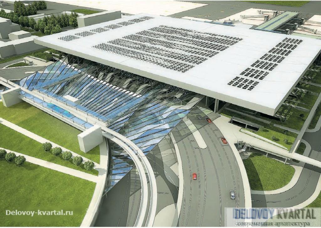 3-D модель терминала аэропорта. Проект бюро Arhis