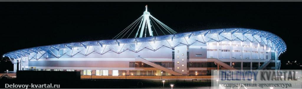 Конькобежный центр в Крылатском ночью
