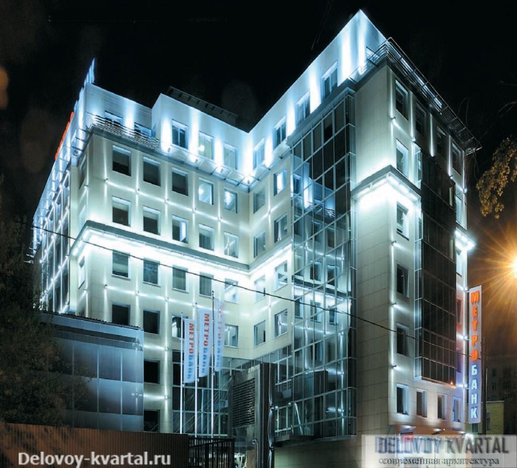 Здание банка со стороны главного фасада