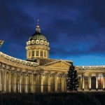 Светодизайн Казанского кафедрального собора Санкт-Петербурга
