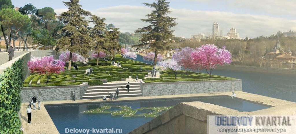 Общий вид парка Мансанарес