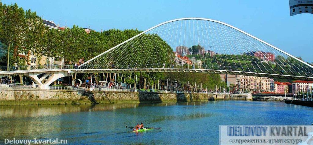 Пешеходный мост Zubi Zuri. Арх.: Сантьяго Калатрава. 1997 г.