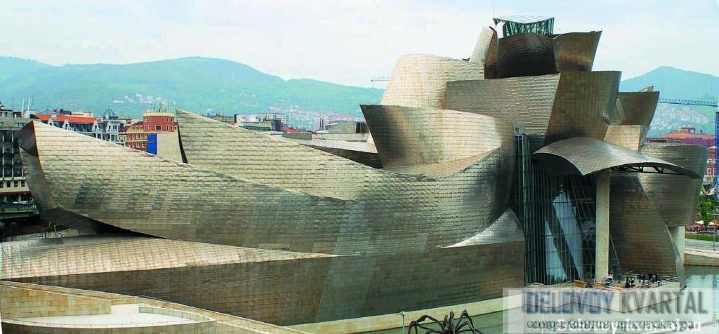 Вид на символ Бильбао с транспортного моста Ла Сальве