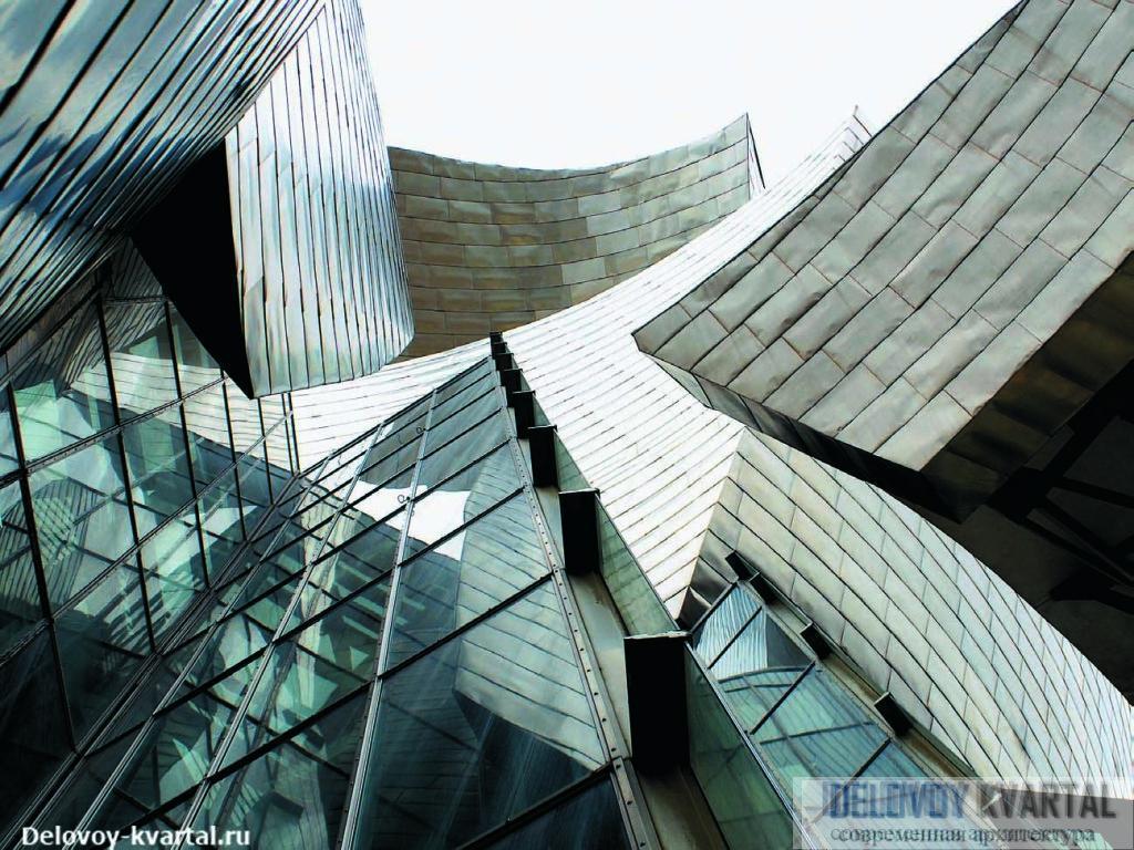 Музей Гуггенхайма. Арх.: Фрэнк Гери. 1997 г. Фрагмент фасада