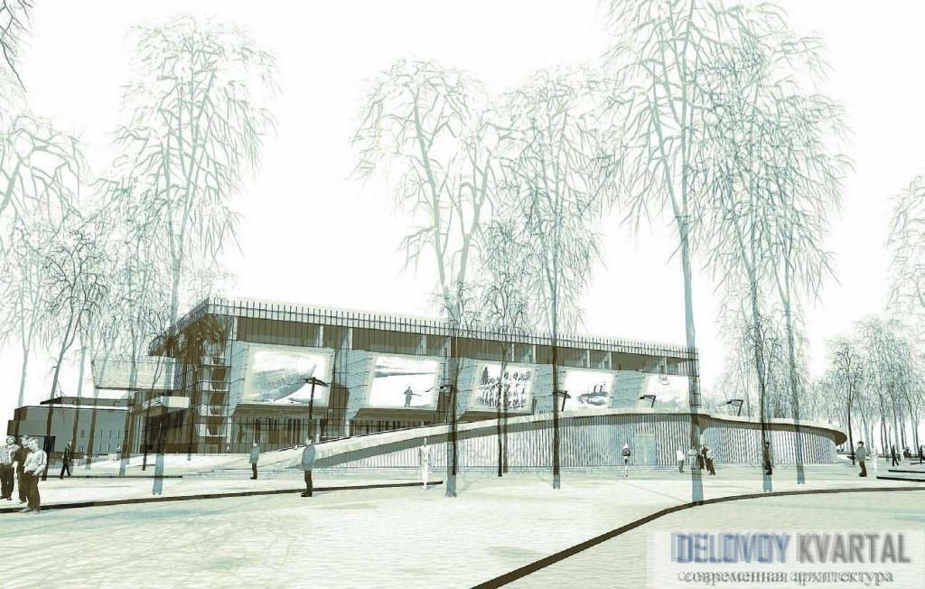 Общий вид комплекса, спроектированного для Александровского парка.
