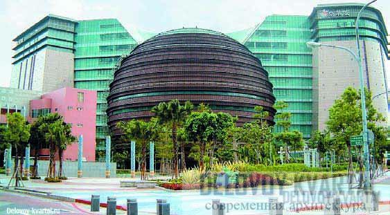 Круглая форма здания символизирует «360 градусов великолепного обслуживания