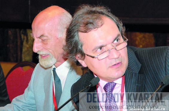 Ведущие конференции Вячеслав Глазычев и Валерий Фадеев