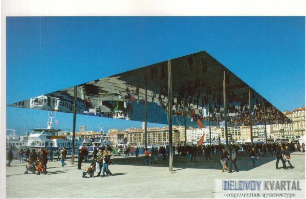 Солнцезащитная конструкция в Старом порту. Марсель, Франция, Норман Фостер