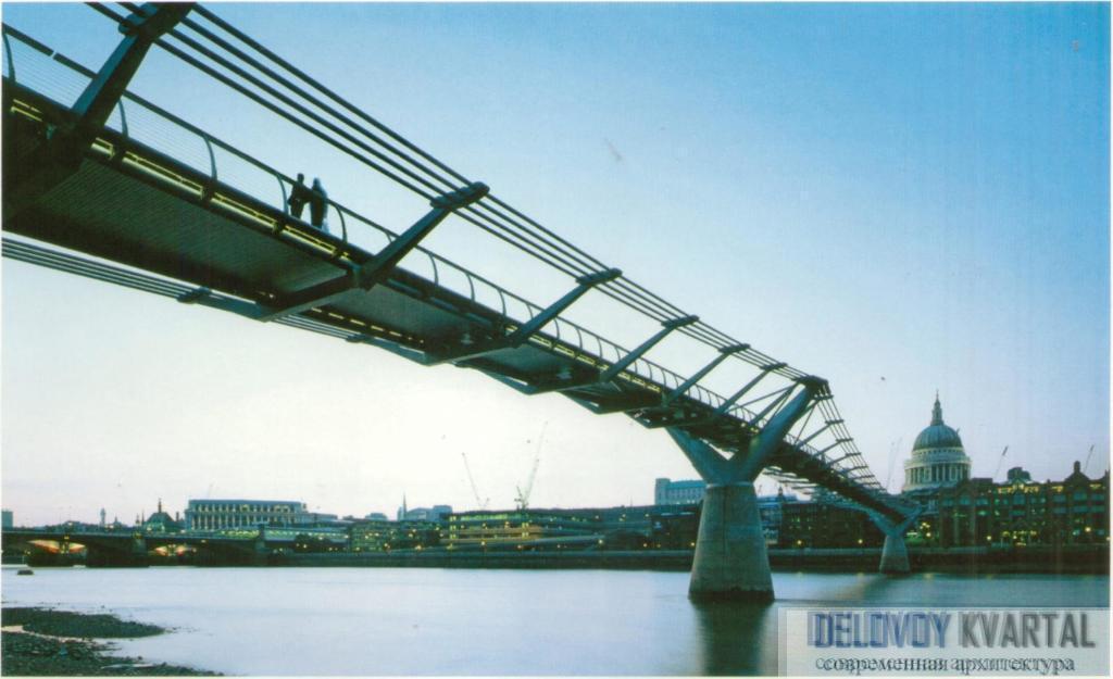Мост Тысячелетия. Лондон, Великобритания