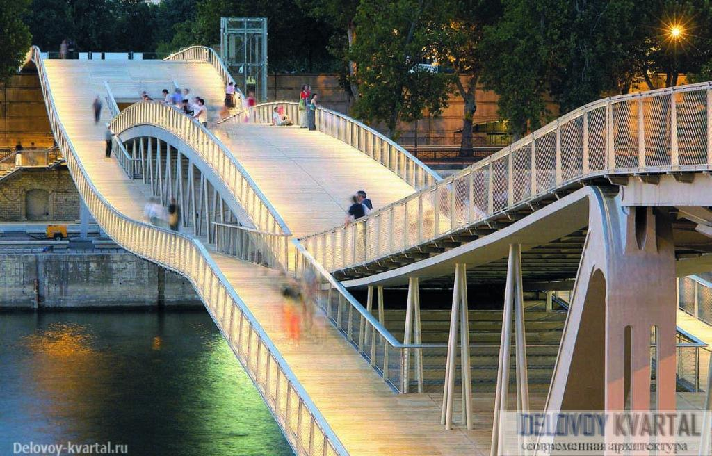 Пешеходный мост Симоны де Бовуар, Париж