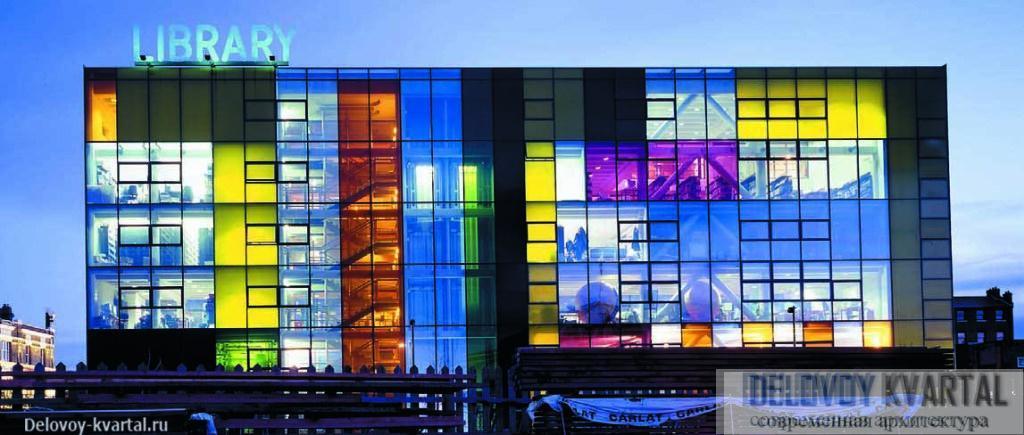 Пэкемская библиотека (Лондон, 2000) — здание, принесшее Олсопу престижную премию Стирлинга