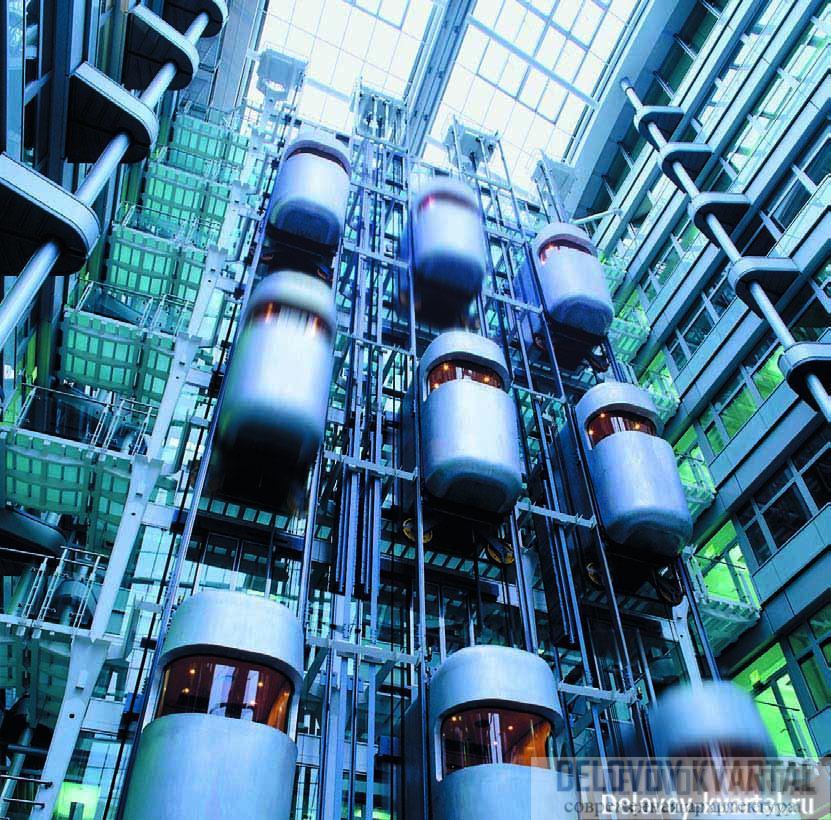 Лифты Otis в здании Берлинской биржи (Арх.: Grimshaw)