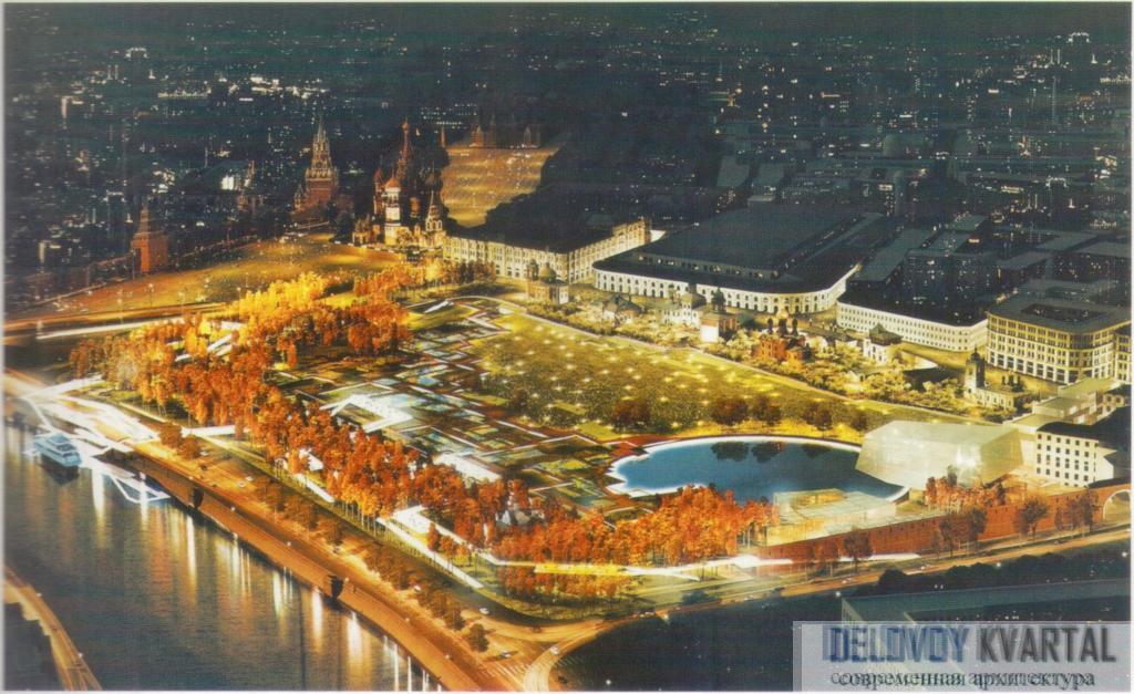 Проект парка «Зарядье». Москва, Россия